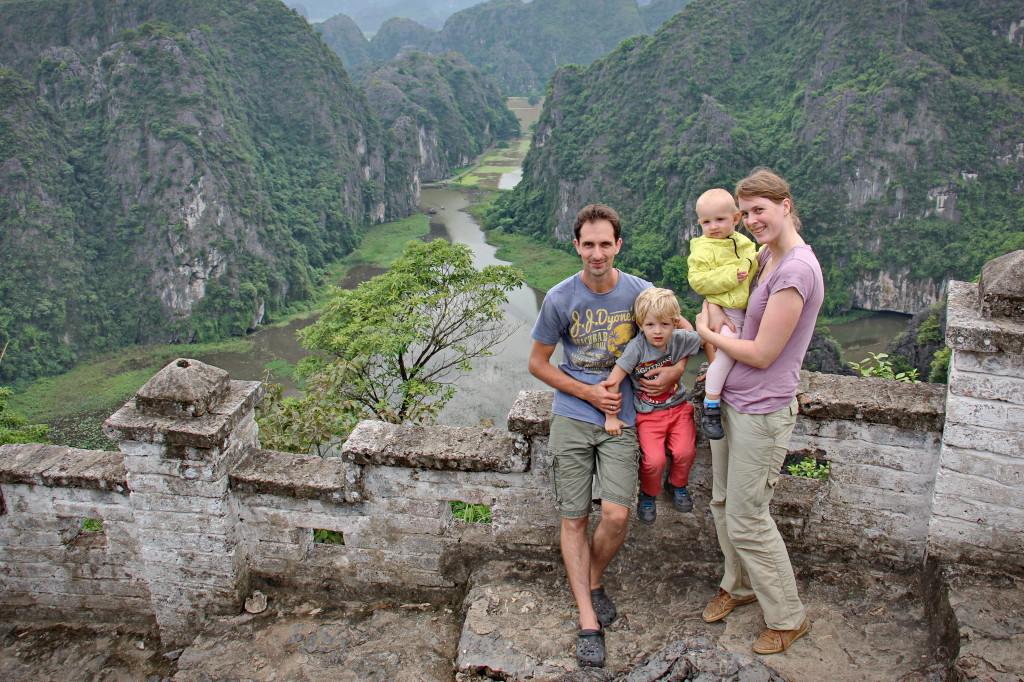 Familienbild in Ninh Binh